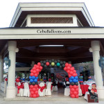 Cars-theme Entrance Arch & other Party Decors at Waterfront Pool Gazebo