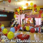 Cars-themed Balloon Decoration at Hannah's Party Place