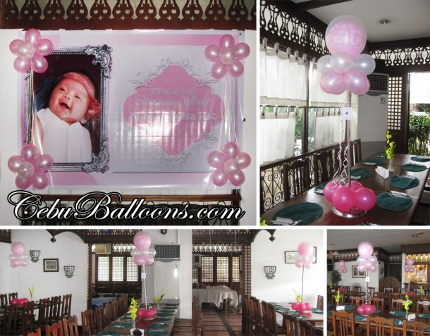 Christening Backdrop & Centerpieces Composite