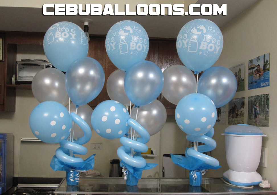Balloon decorations for christening party favors ideas for Balloon decoration images party