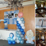 Christening Balloon Decor Project with Personalized Ref Magnets at Pino Restaurant