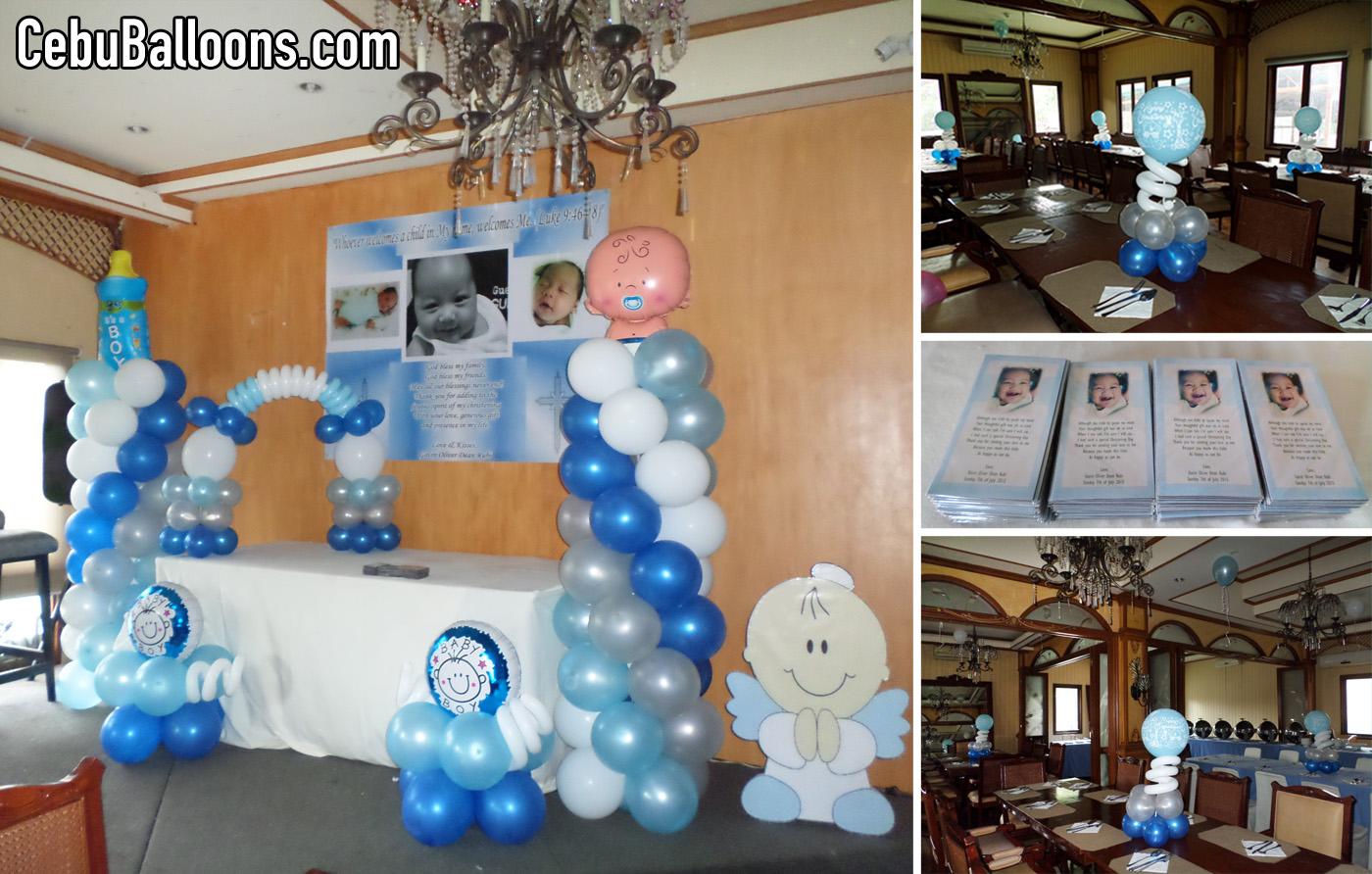 Christening Balloon Decor Project With Personalized Ref