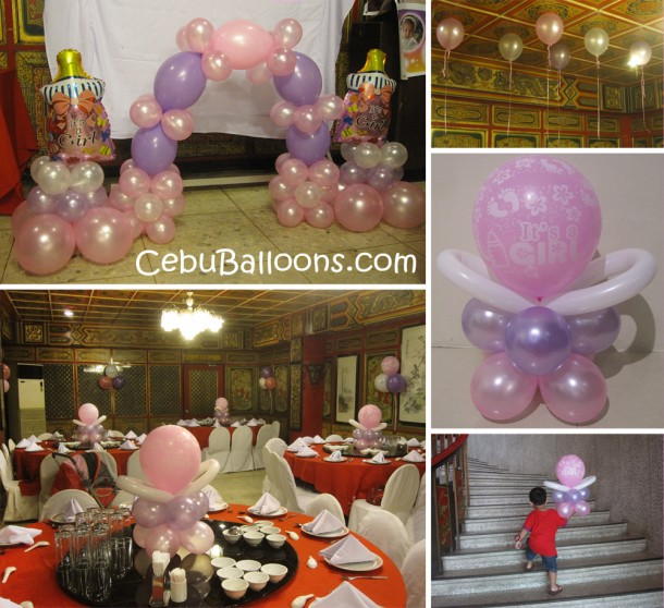 Christening Balloon Decoration (Girl) at White Gold House