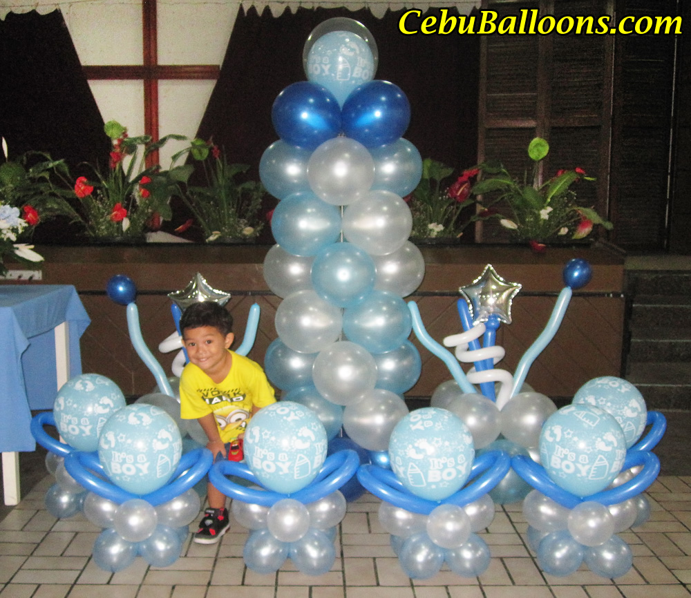 Christening balloons and decorations party favors ideas for Balloon decoration ideas for christening