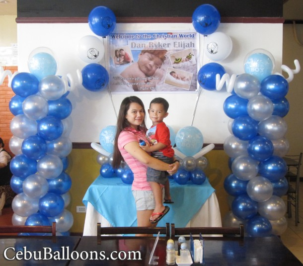 Christening Balloon Decoration at Merillas Resto
