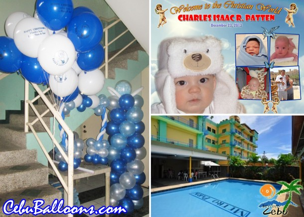 Christening Balloon Decoration at Metro Park Hotel Cebu
