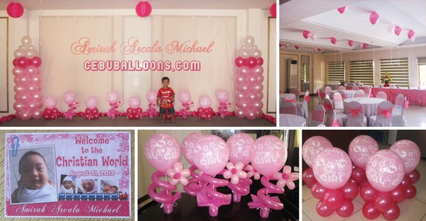 Christening Balloon Decoration at Orchard Hotel & Suites