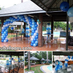 Christening Balloon Decoration during Typhoon Ruby at Meritz Resort