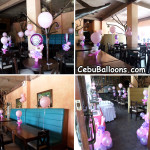 Christening Balloon Decors for a Baby Girl at Mio Restaurant