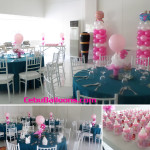 Christening Balloon Pillars with Centerpieces and Giveaways at Laguna Garden Cafe Ayala