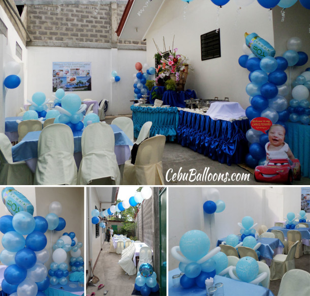 Christening boy cebu balloons and party supplies for Balloon decoration packages manila