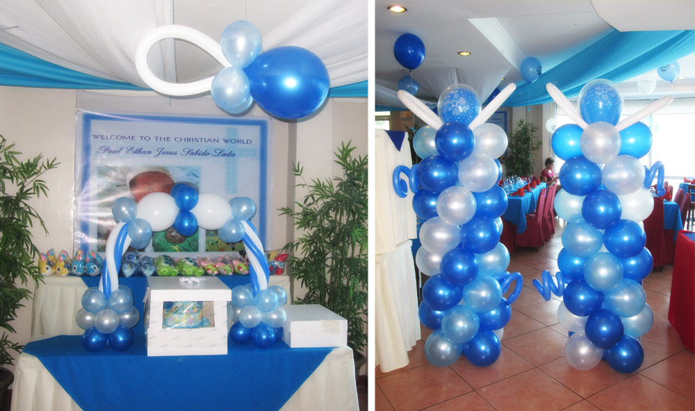 Baptism party ideas for boys car interior design for Baby christening decoration