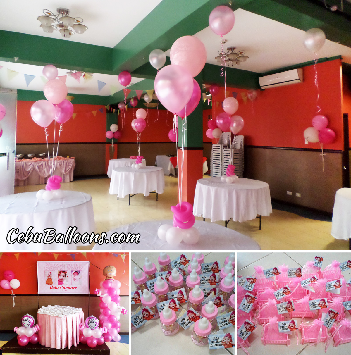 Christening decors giveaways for aria candace lobaco at hannahs christening decors giveaways for aria candace lobaco at hannahs party place junglespirit Gallery