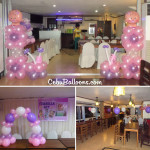 Christening (Girl) Balloon Decoration Package with Giveaways at Apurado Restaurant