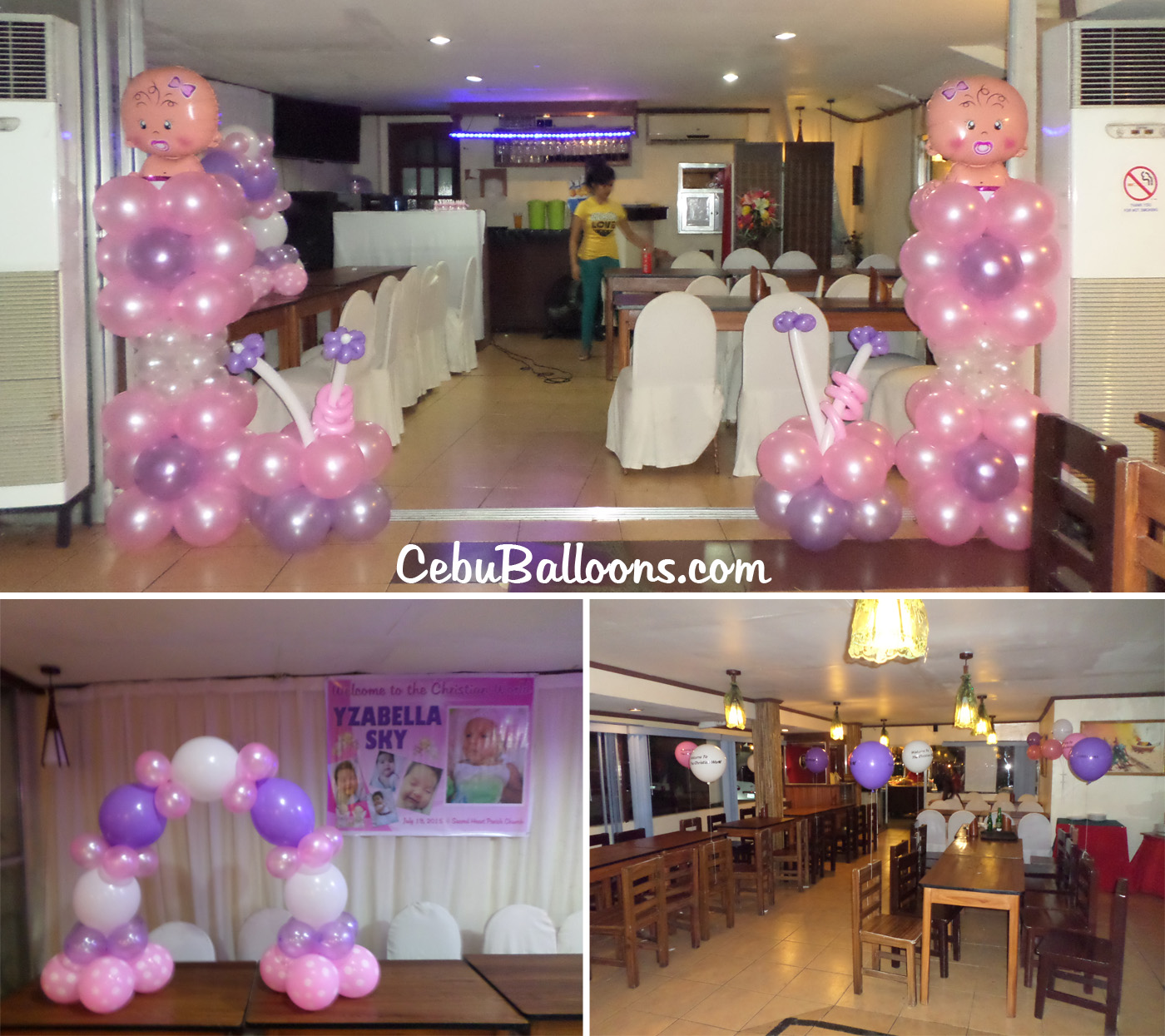 Christening Girl Balloon Decoration Package With Giveaways At Apurado Restaurant