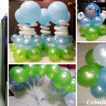 Christening (Light Blue, Light Green) Balloons for pick-up