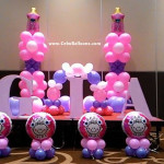 Christening Styro and Balloon Decors for Gia's Christening Party