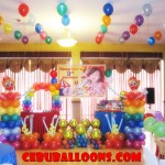 Circus Theme Balloon Decoration at Hannah's Party Place