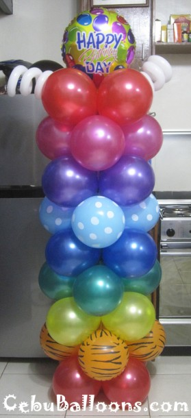 Colorful Balloon Column for Birthday