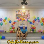 Rainbow Balloon Decoration at Orchard Hotel