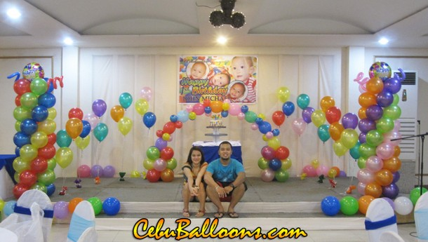 Colorful Balloon Decoration at Orchard Hotel