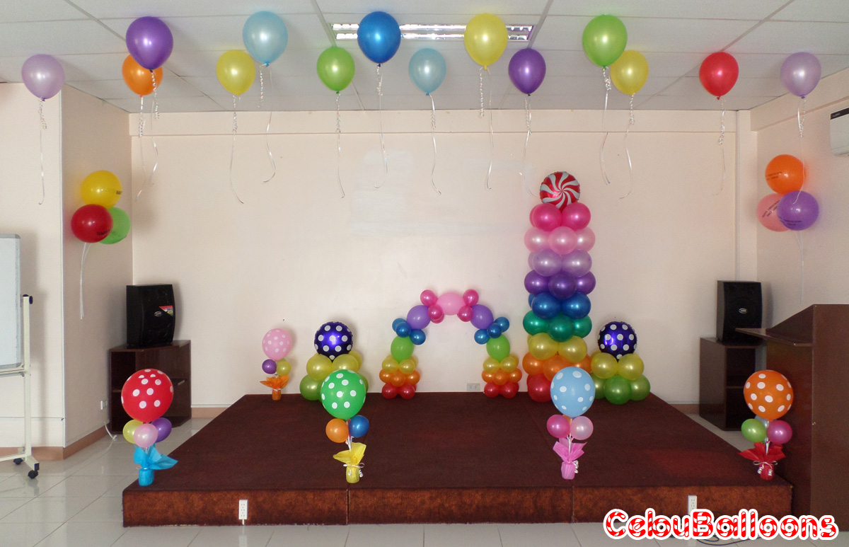 Circus carnival clown cebu balloons and party supplies for Room decor ideas for birthday