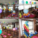 Colorful Balloon Setup for a Christening at Patio Isabel