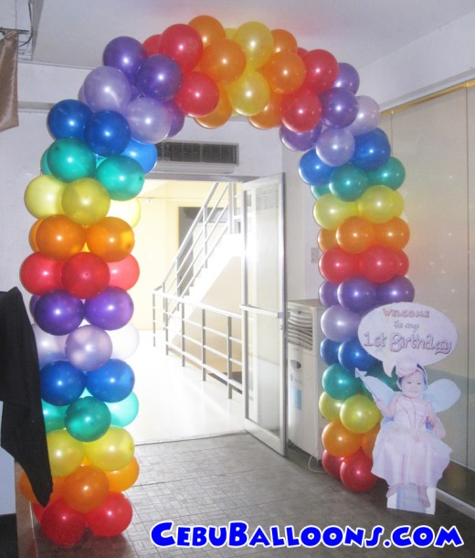 Colorful Entrance Arch with Celebrant Standee at Lakwatsa