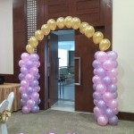 Columns with Flying Balloons Arch