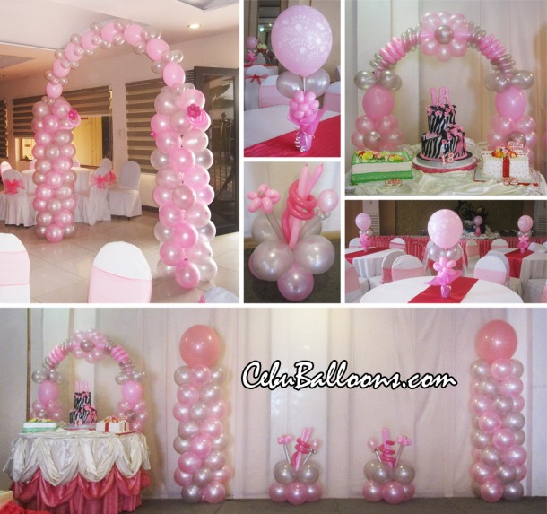 Debut balloon decoration package at orchard hotel for 21st birthday decoration packages