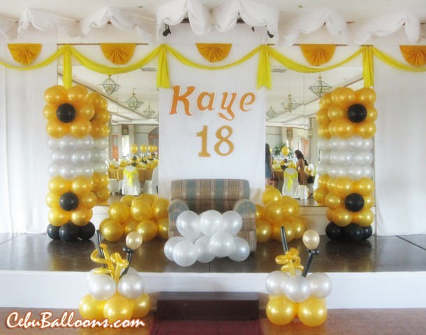 Debut Balloon Decoration at Holiday Plaza Hotel