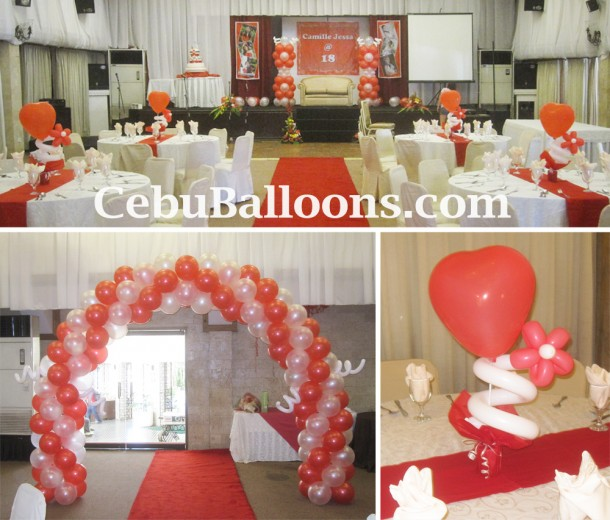 Debut (Red & White Theme) Decoration Package at Montebello