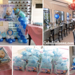 Decors for Christening with Crib & Ref Magnets at Pino