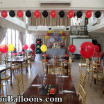 Disney Cars Balloon Decors with Tarp, Standee, Clown Host and Party Supplies at Wellcome Hotel