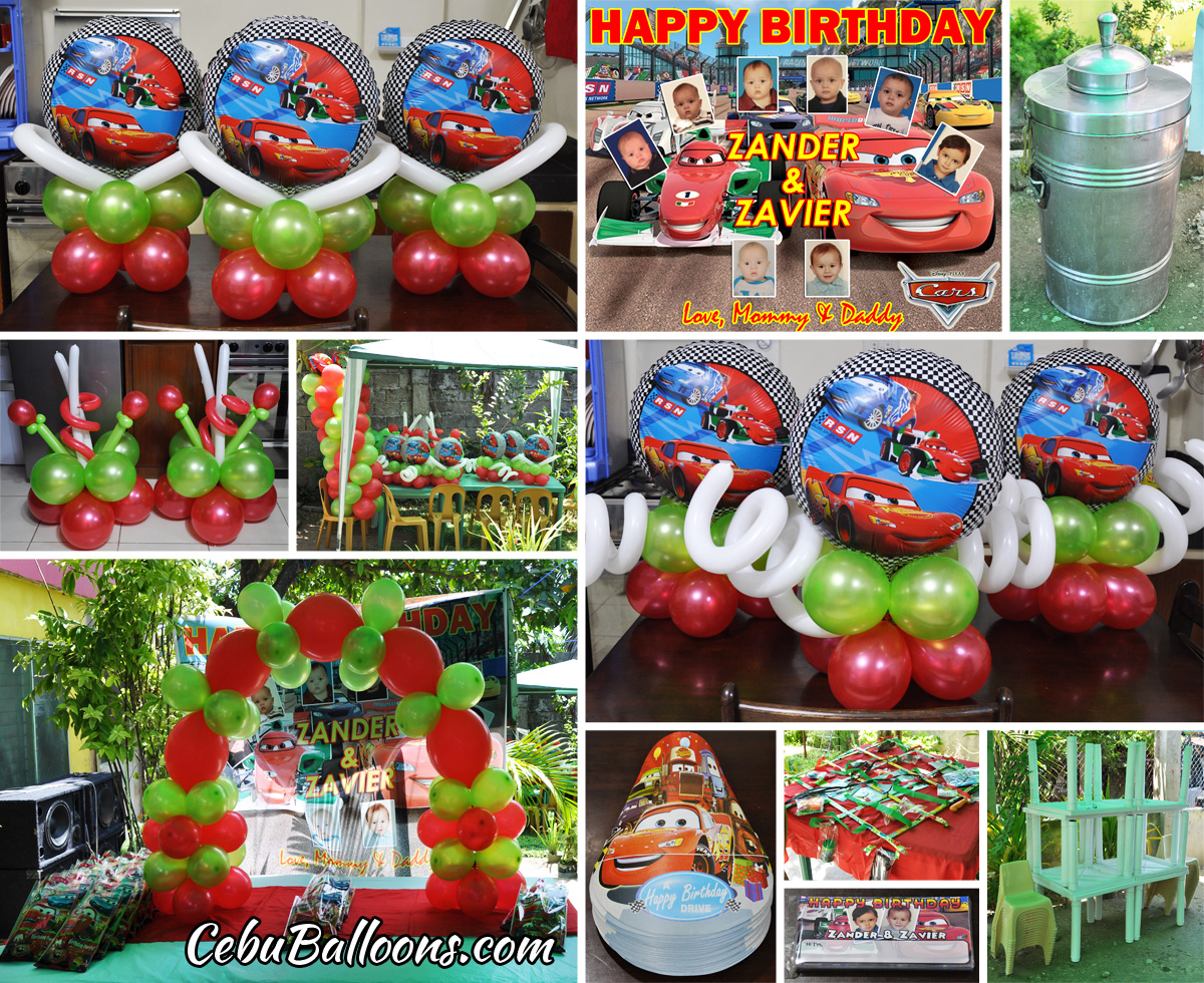 Disney cars theme decoration party package combo at for Balloon decoration cars theme