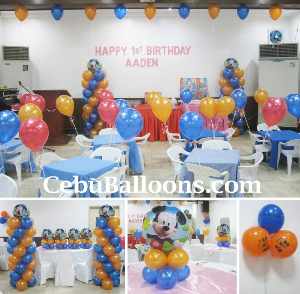 Disney Planes (Colors) & Mickey Mouse (Foil Balloons) at Sacred Heart Center