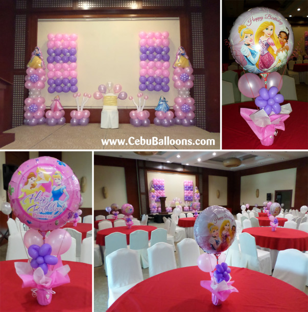 Disney Princess Balloon Decoration Package at City Sports Club Cebu