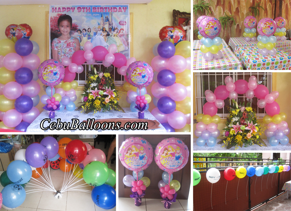 Disney princess balloon decoration package at tayud liloan for Balloon decoration packages