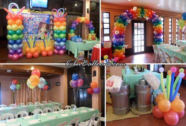 Disney Up Kiddie Party Package with Balloon Decors at AA's Guadalupe