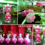 Dominant Fuchsia Pink Balloon Decors at Ching Palace Grand Ballroom