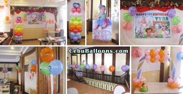 Dora the explorer cebu balloons and party supplies for Balloon decoration packages manila