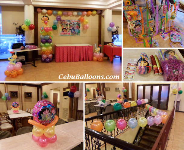 Dora the Explorer Balloon Decors & Party Supplies (Hervie) at Sugbahan