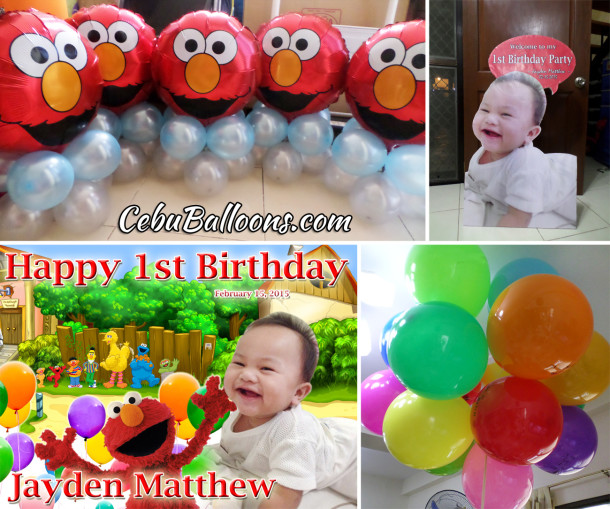 Elmo Theme Party Decors for Jayden Matthew's 1st Birthday
