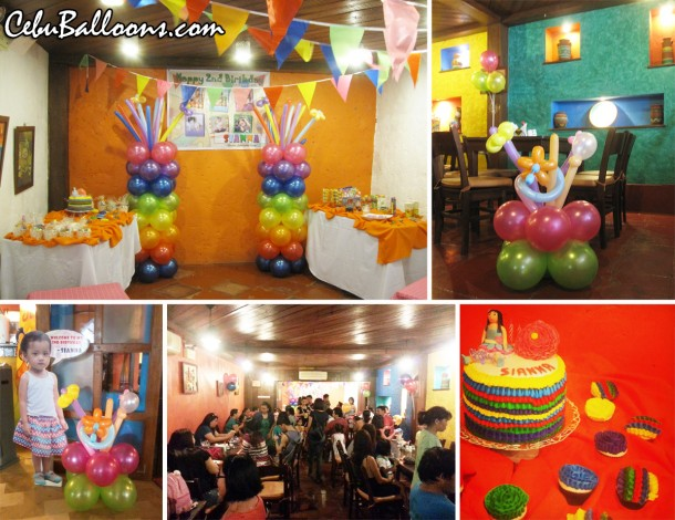 Fiesta Theme Balloon Decoration at Mooon Cafe Guadalupe