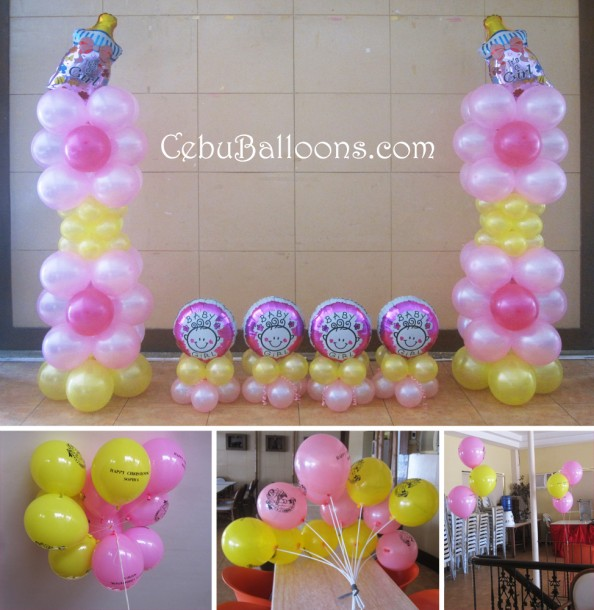 Flower Christening Balloon Setup at Sugbahan Corner