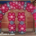 Flower Theme Entrance Arch & Balloon Columns at Dita, Pulangbato