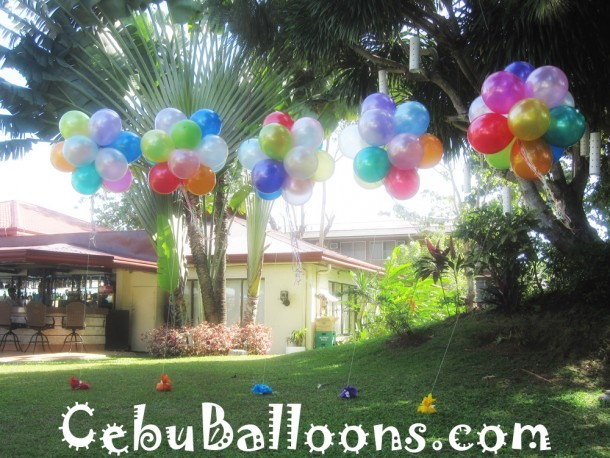 Flying Balloons in Sets at Montebello Garden