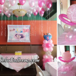 Girl Christening Balloon Decor & Tarp (for Sam Omandam) at Hanna's Party Venue Ground Floor