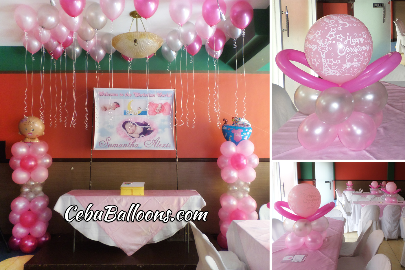Pink & Hot Pink Balloon Decoration at Margarita Cuisine Robinland ...