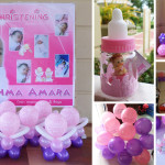 Girl Christening Balloon Decor with Giveaways at Aldea del Sol, Lapulapu